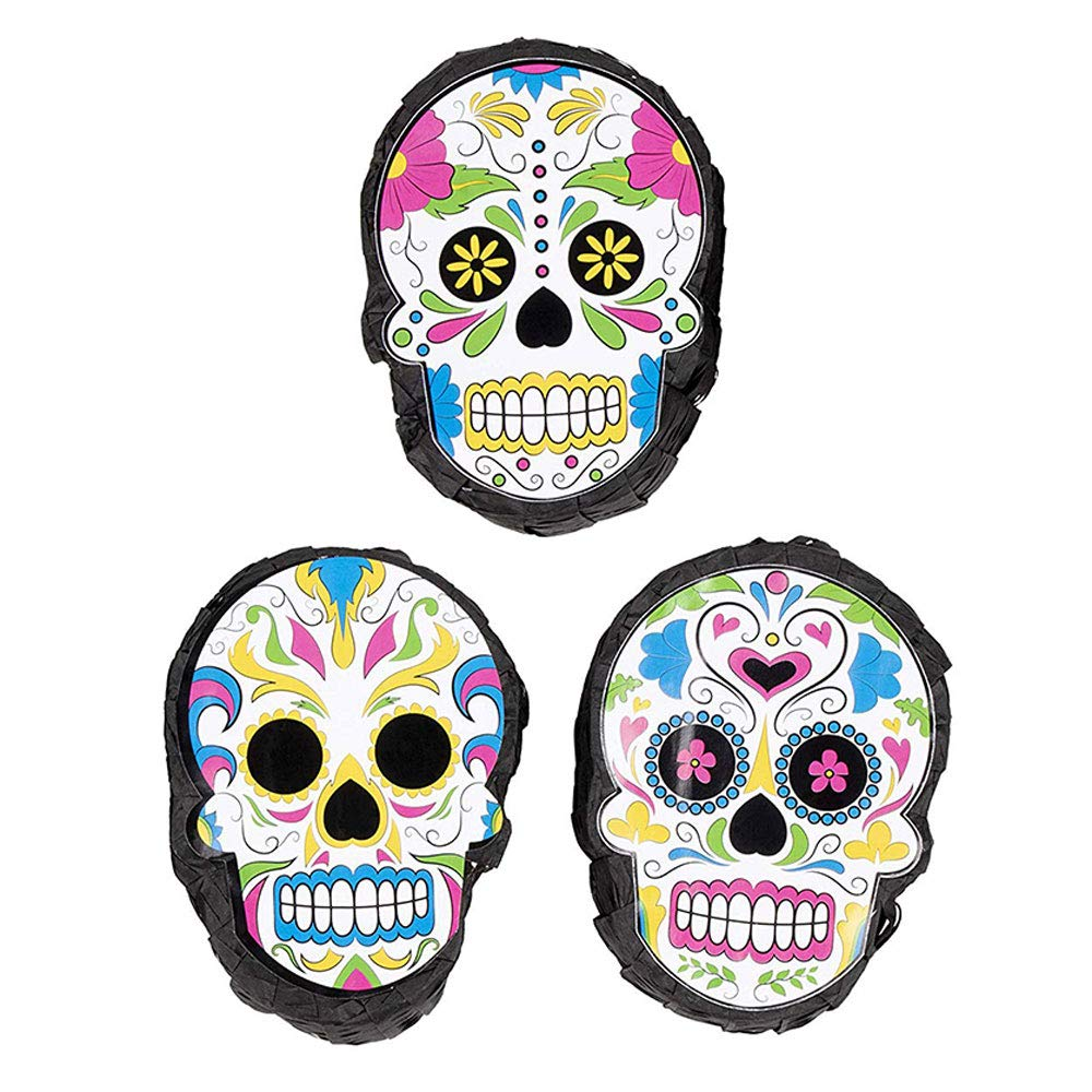 Juvale Blue Panda 3-Pack Mini Pinatas - Mexican Party Supplies for Cinco De Mayo, Birthday Parties, Fiesta Party Decorations, Day of The Dead - Themed Design Centerpiece Decor, 4 x 7 x 2 Inches