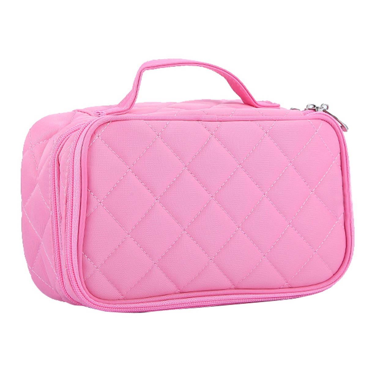 db972d8fdefe HOYOFO Double-Sided Cosmetic Pouch Bag for Travel Makeup Brush Organizer  Makeup Bag, Big...