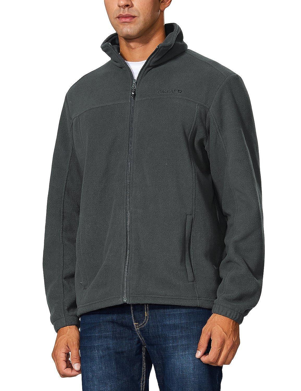 Baleaf Mens Outdoor Fleece Jacket Full Zip Thermal Winterwear