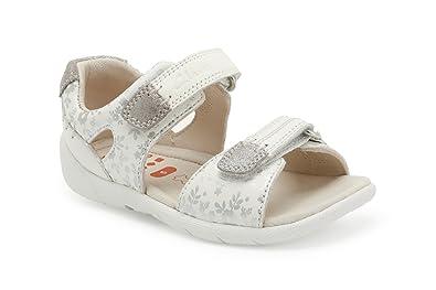 a90daaab936a2 Clarks Girls Pre-School Softlysoph Fst Leather Sandals In White ...