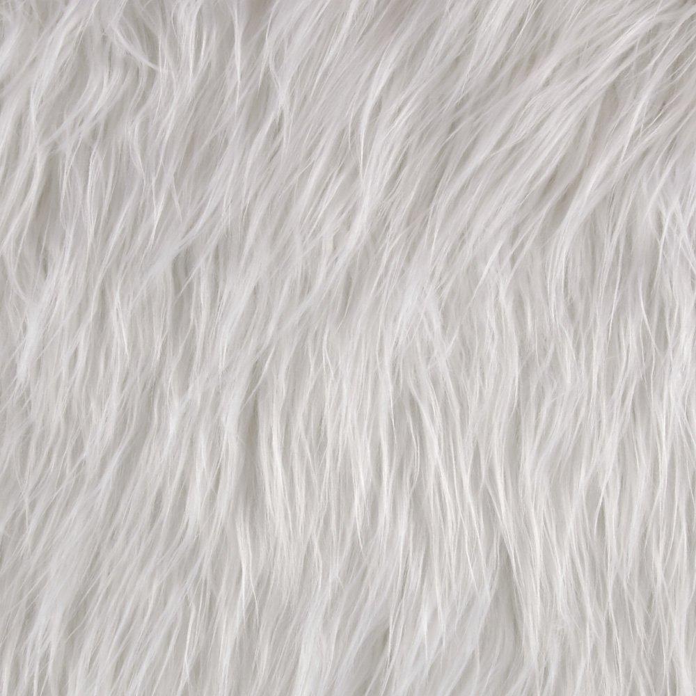 Shannon Faux Fur Gorilla White Shannon Fabrics