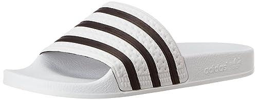 adidas Adilette, Chanclas Unisex Adulto, Blanco (Weiß/Negro 1/Weiß)