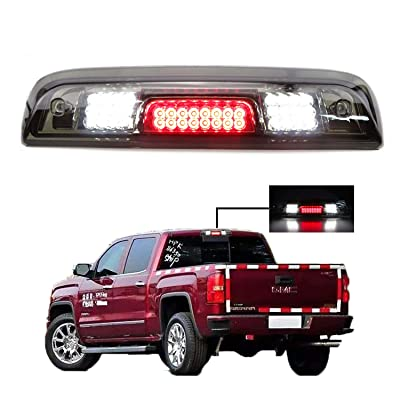 3rd Brake Light for 2014-2020 Chevrolet Silverado/GMC Sierra LED Third Tail Light Rear Cargo Lamp High Mount Stop light Chrome Housing + Smoke Lens: Automotive