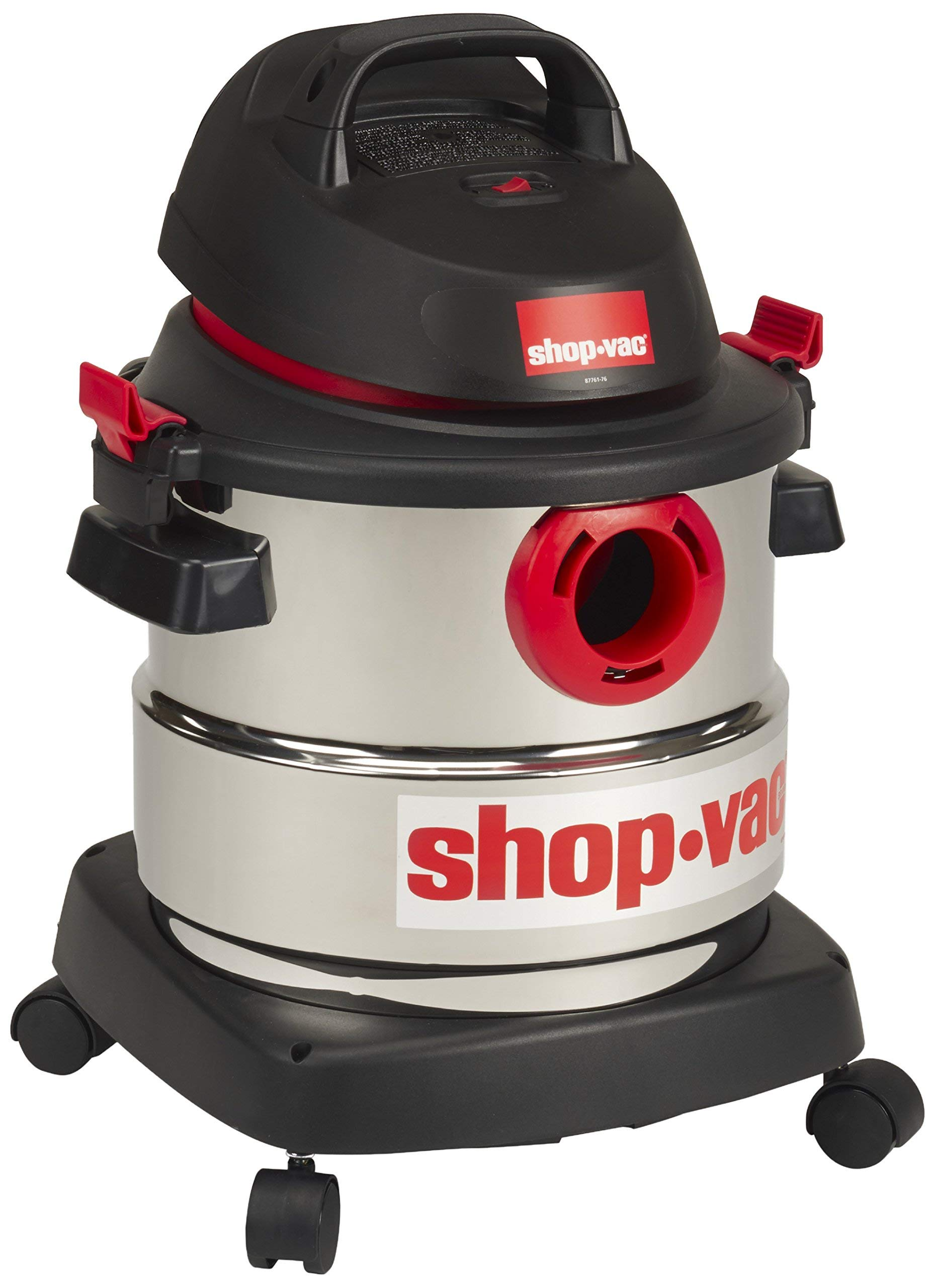 Shop-Vac 5989300 5-Gallon 4.5 Peak HP Stainless Steel Wet Dry Vacuum (Renewed)