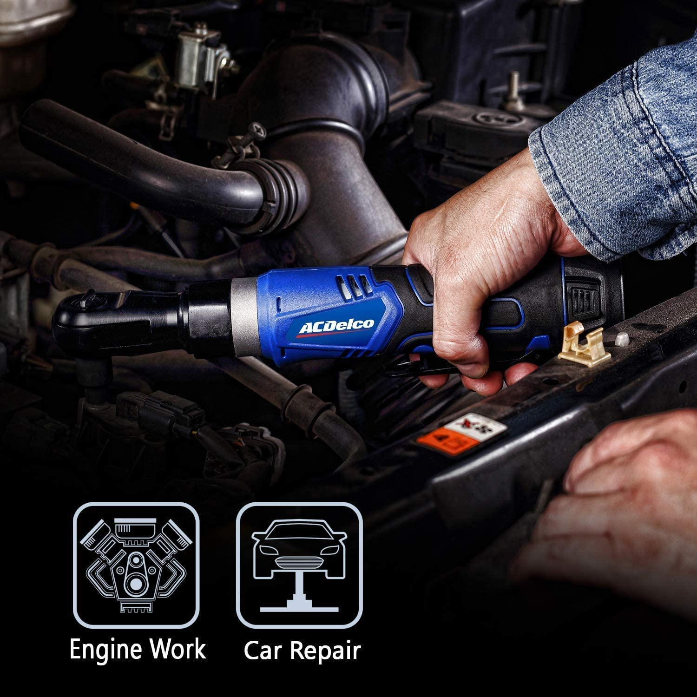 "ACDelco ARW1209-K16 G12 Series 12V Li-ion Cordless 3//8/"" Rachet Wrench /& Compact Drill Driver Combo Tool Kit"