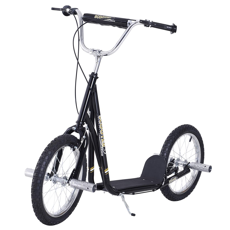 Outsunny - Premium Patinete Scooter a Ruedas 16 Pulgadas ...