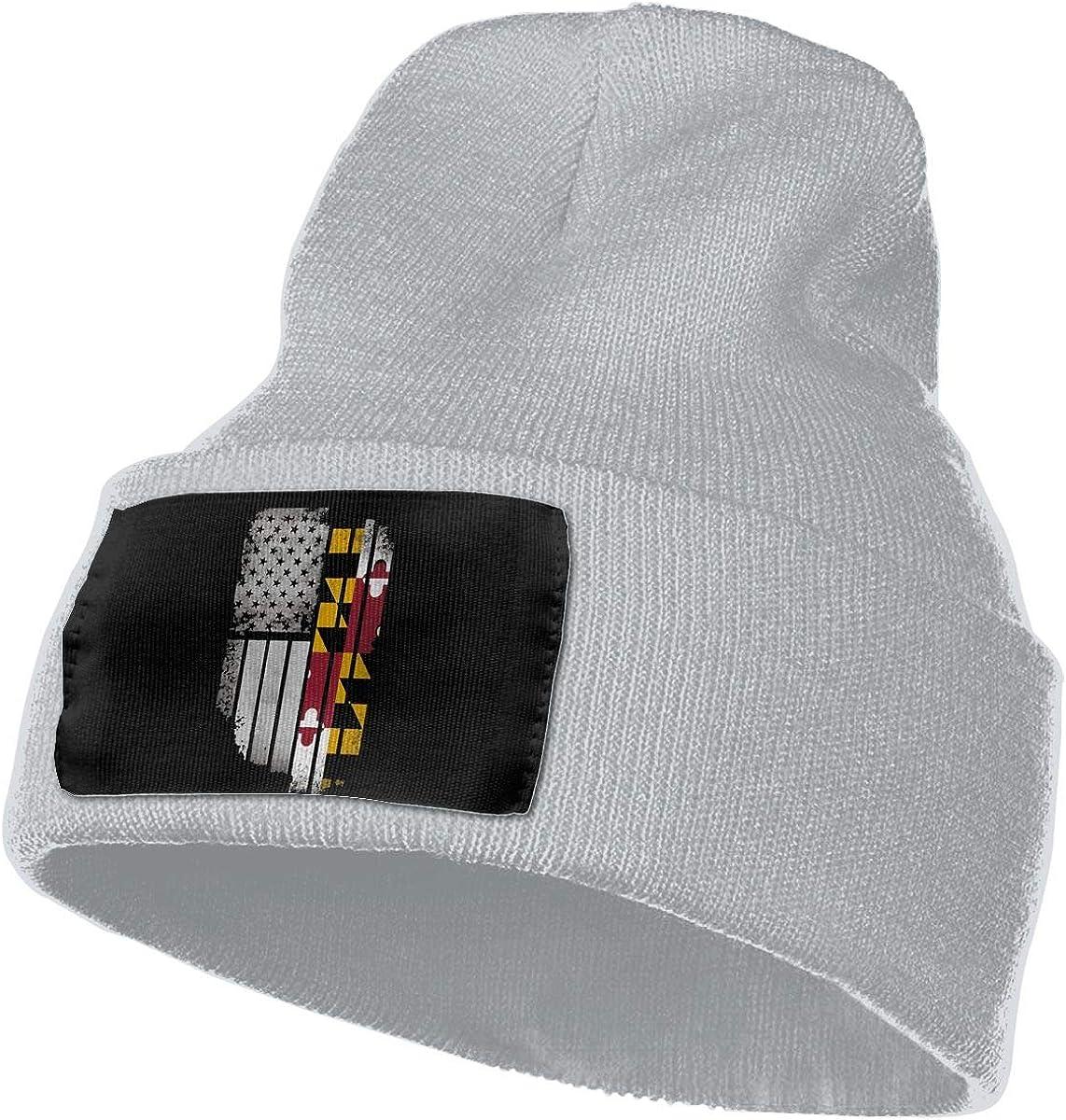 Mens Womens 100/% Acrylic Knit Hat Cap USA Vintage Maryland Flag Soft Skull Cap