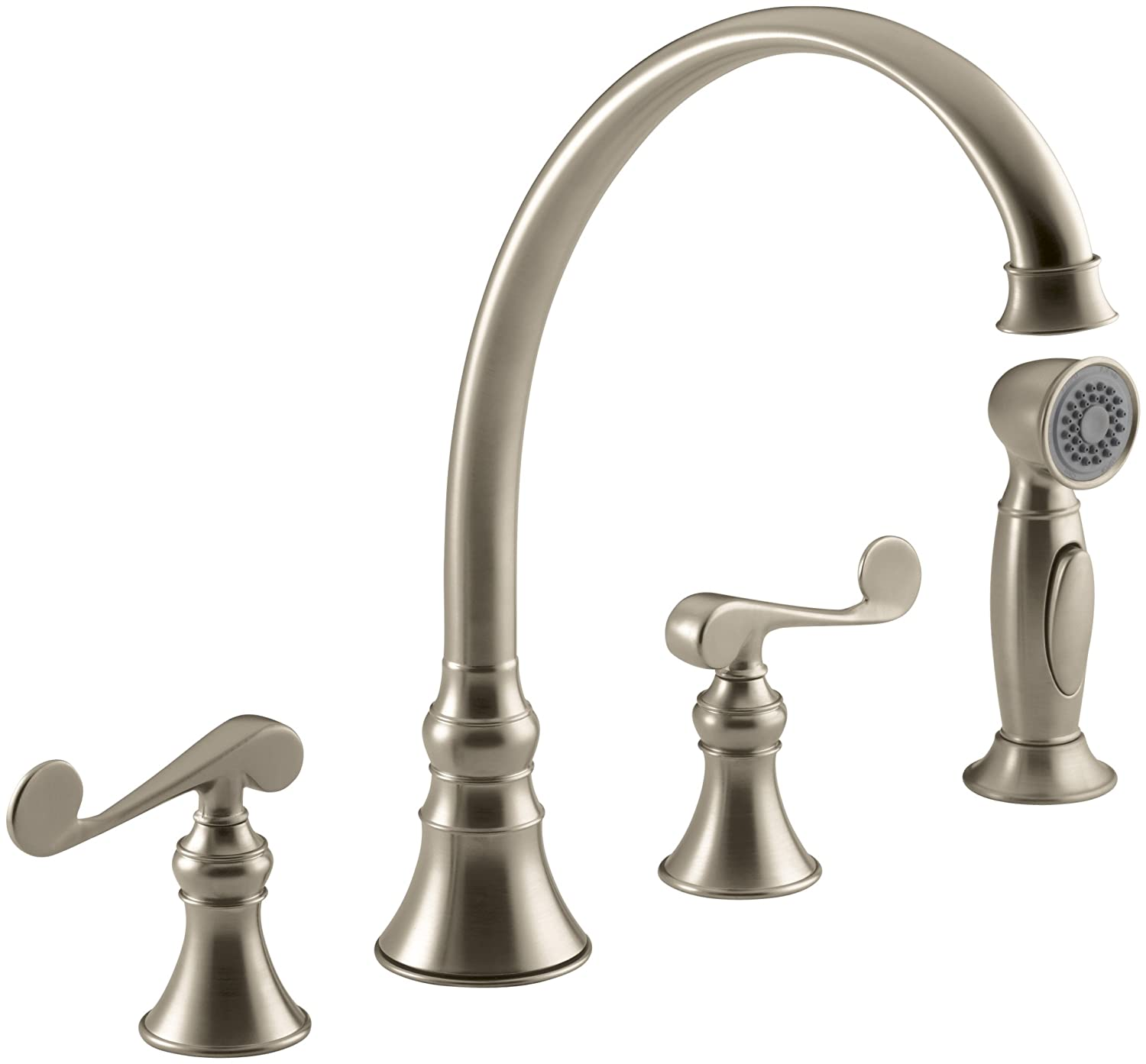 fauce mounted deck manaus finish p htm gold kitchen sink faucet