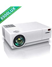 """YABER Projector 6500 Lumen 1920x1080P Native Full Hd Projectors, ±45° 4D Digital Keystone Correction Support 4K, 300"""" LCD Homesiona/Profesl Led Projector For Iphone/Smartphone/PC/TV Box/Laptop/PS4/AC3"""