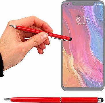 DURAGADGET Lápiz Stylus Rojo + Bolígrafo (2 En 1) para Smartphone ...