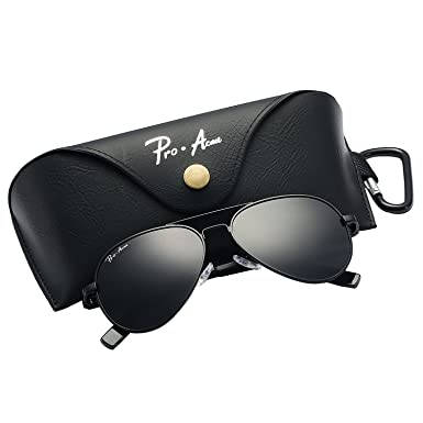 c025382fe4 Pro Acme Small Polarized Aviator Sunglasses for Kids and Youth Age 5-18  (Black