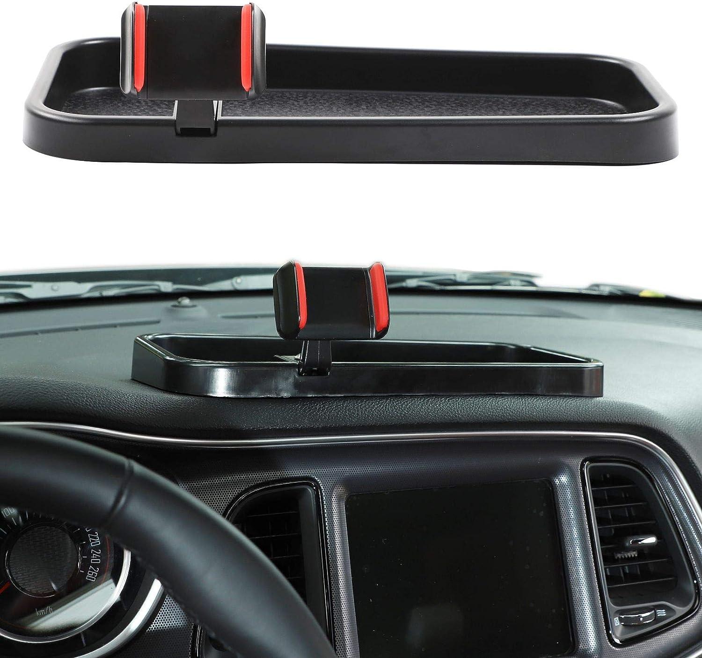 Black JeCar Interior Car Phone Holder Dash Multi-Function Cell Phone Mount for 2015-2020 Dodge Challenger