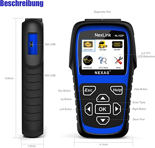 NEXAS NL102 Plus Heavy Duty Truck Scan Tool is an excellent option for diagnosing problems