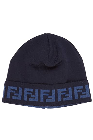 Fendi men s hat baseball wool cap zucca blu  Amazon.co.uk  Shoes   Bags 47df9b6aae6f
