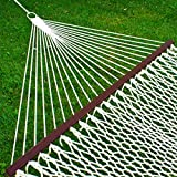 "59"" Double Rope Hammock w/ Wood Spreader Bar Heavy Duty 450 lbs Capacity"