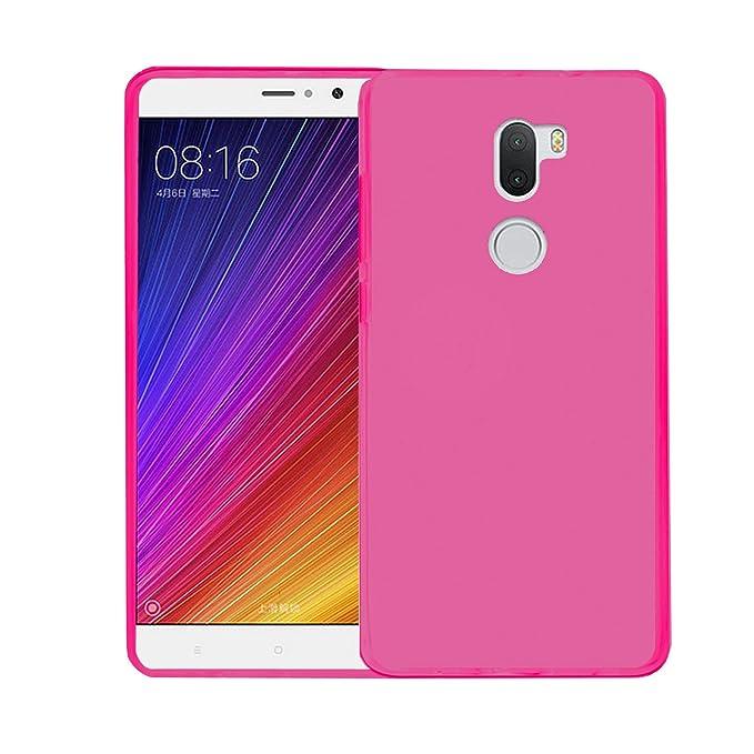 TBOC® Funda de Gel TPU Rosa para Xiaomi Mi 5s Plus: Amazon.es ...