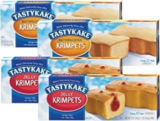 product image for Tastykake Butterscotch or Jelly Krimpets Family Size 12 Pack- A Philadelphia Baking Institution (Variety Pack, 4 Pack)