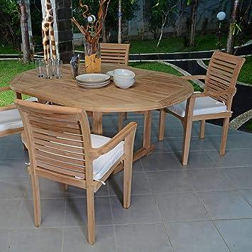 Salon de Jardin en Teck qualité Ecograde Marbella, 4/6 ...