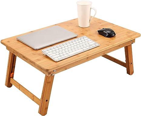 Laptoptisch Betttisch Nnewvante Bambus Notebooktisch Lapdesks Tragbare Laptop Schreibtisch
