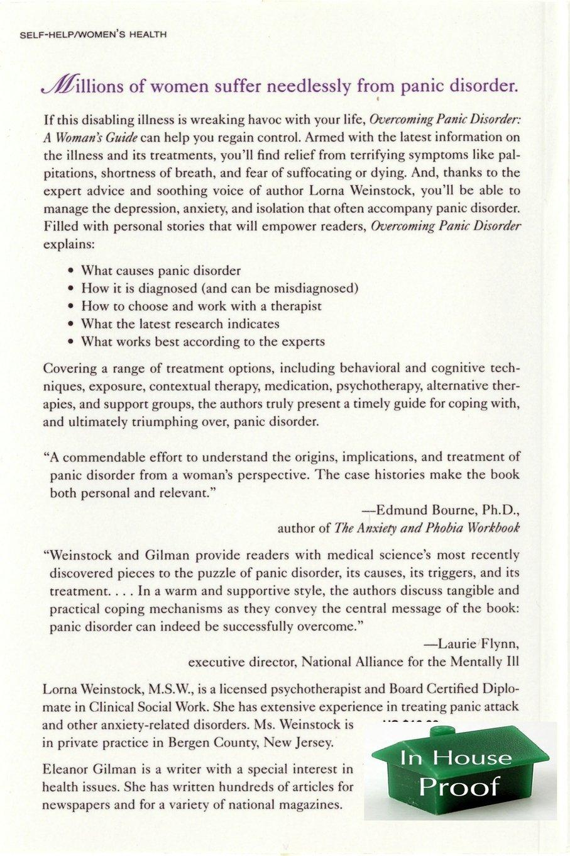 Workbooks best anxiety workbook : Overcoming Panic Disorder: Lorna Weinstock, Eleanor Gilman ...