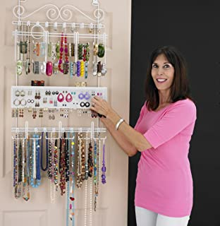 Amazoncom Over the Door Wall Mounted Hanging Jewelry Closet