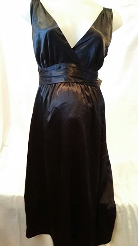 Amazon Black Satin Evening Maternity Dress By Ripe Limited In