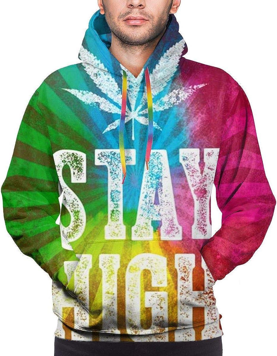 Sudaderas con capucha 3D para hombre, marihuana, marihuana, marihuana, cannabis Stay High Hoodies con capucha