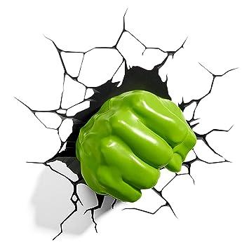 Marvel avengers 3d deco wall lights hulk green fist hand night marvel avengers 3d deco wall lights hulk green fist hand night light aloadofball Choice Image