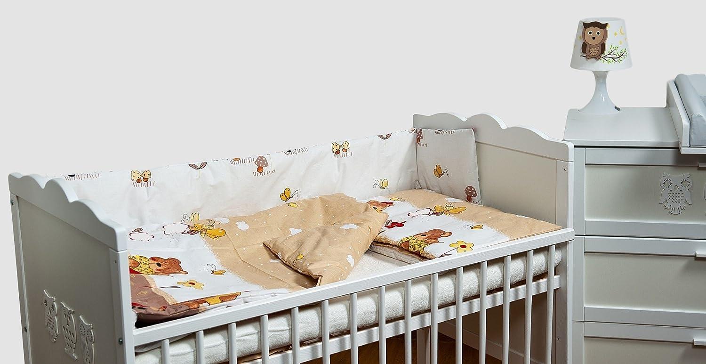 dessin: brebis et trefles/_bleu lit Ensemble set complet 6 pieces parure de lit literie pour b/éb/é 70x140
