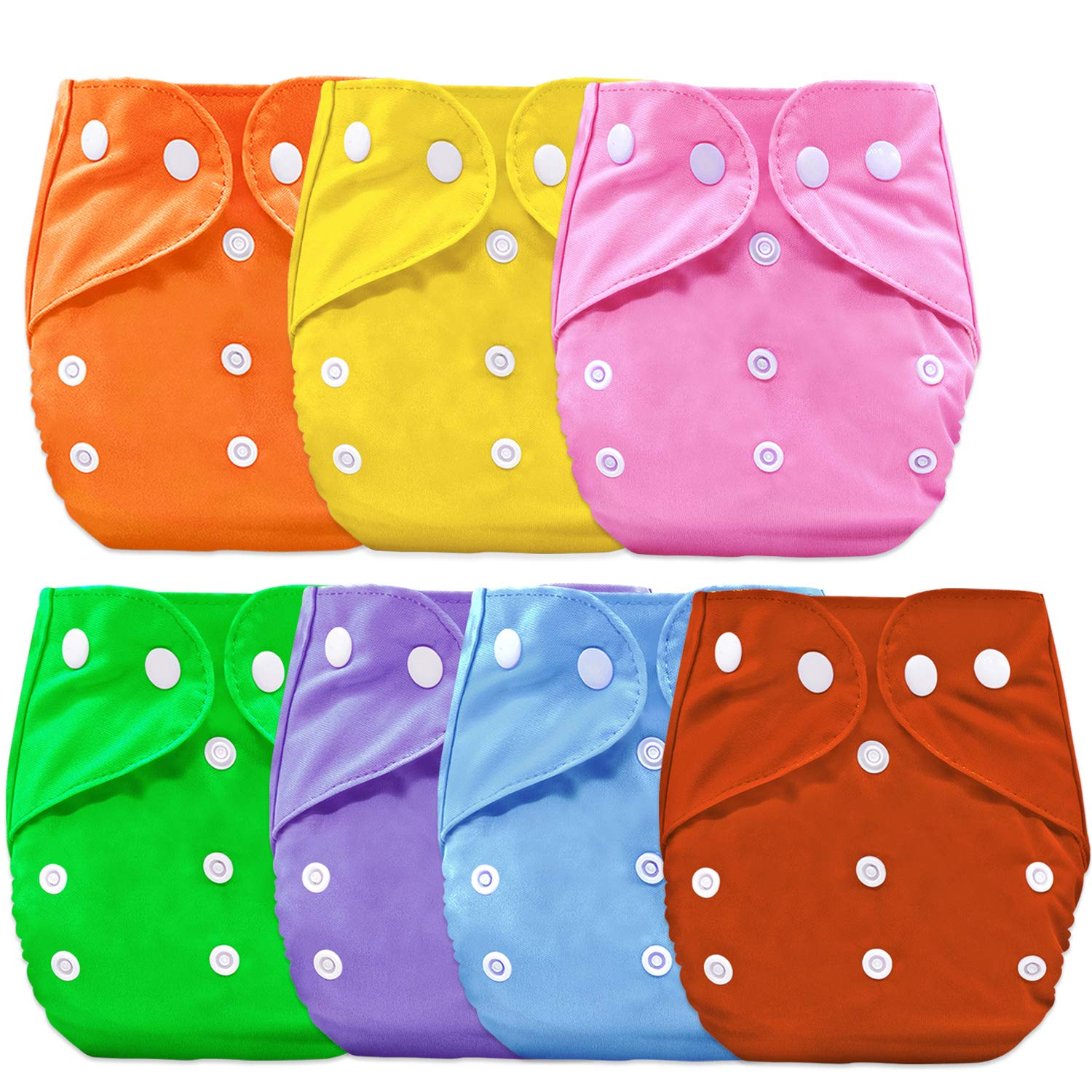 Buy Bembika B Plus Solid Cloth Diapers for Babies, Washable Reusable,  Adjustable Sizes (7 Combo) (No Inserts Included) 7B Online at Low Prices in  India - Amazon.in