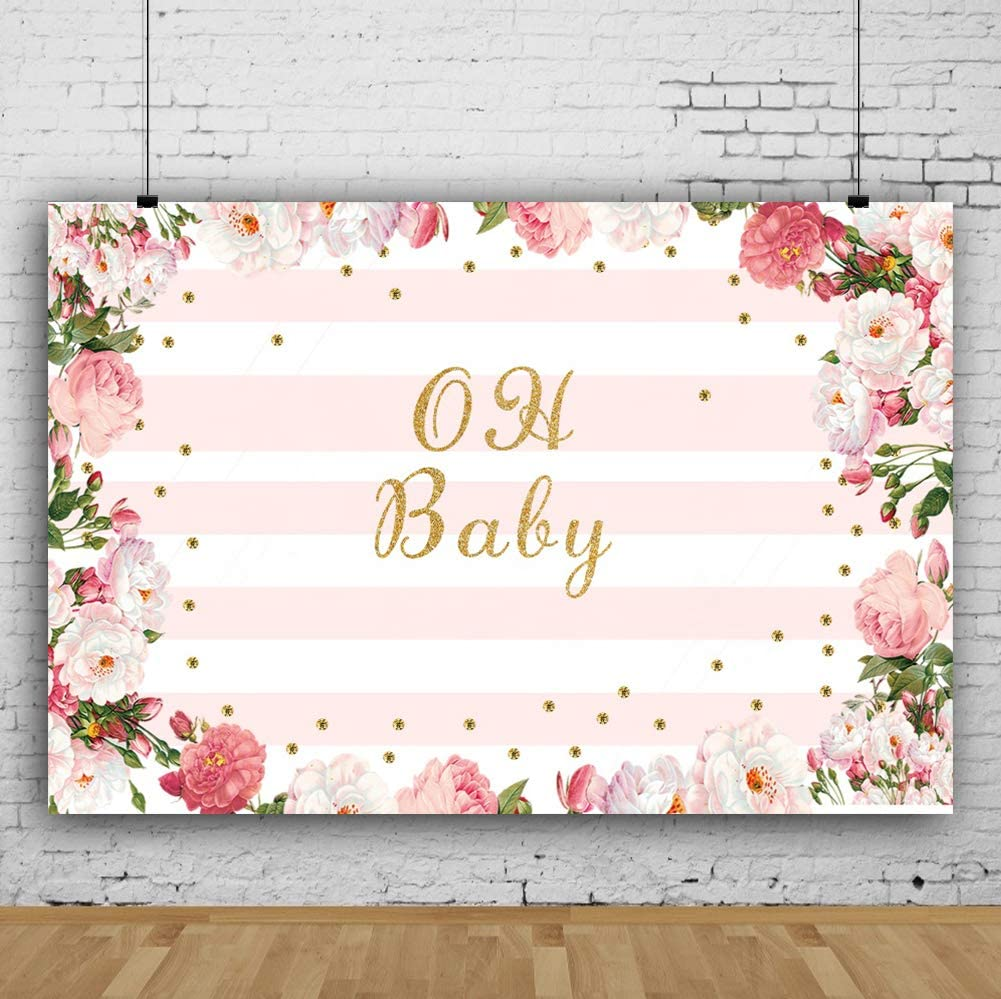 Geometric Circle 10x15 FT Photo Backdrops,Floral Ornamental Pastel Toned Shapes and Swirls Lines Vintage Display Background for Baby Shower Bridal Wedding Studio Photography Pictures Pink Blue