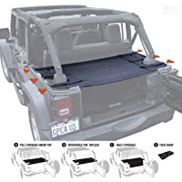 GPCA Wrangler Cargo Cover PRO - Reversible for TOP ON/Topless Jeep JKU Sports/Sahara/Freedom/Rubicon 4DR Unlimited 2007…