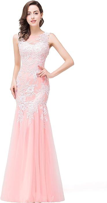 a89564d9b39 Babyonlinedress Lace Appliques Mermaid Long Formal Dresses For Women Evening