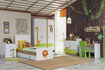 Cilek SAFARI Kinderzimmer 2 Kinder Schlafzimmer Spielzimmer Weiß ...