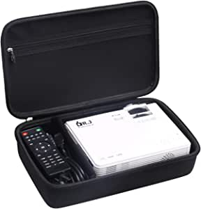 Aproca Hard Travel Storage Case Fit DR.J Professional HI-04 Mini Projector (Black)