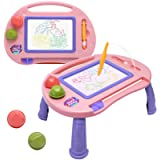 Magnetic Drawing Board,Toys for 1-2 Year Old Girls,Magna Erasable Doodle Board for Kids,A Colorful Etch Education Sketch Tabl