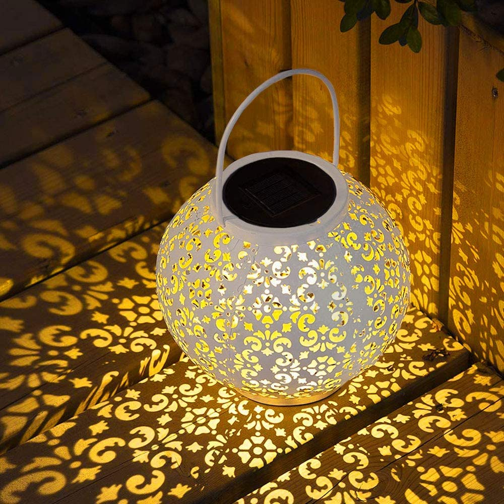 Linterna Farol Solar LED L/ámpara solar exterior Farolillos Solare Decorativos jard/ín al aire libre Paisaje con manija para Patio jard/ín Gazebo Terraza Cubierta Tambi/én L/ámpara Mesa