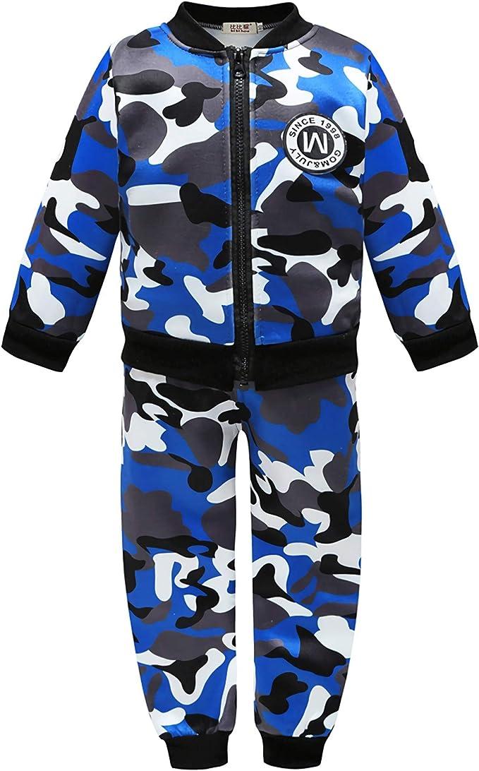 Coralup Ropa de invierno para niños pequeños conjuntos de ropa para bebés cálidos trajes de camuflaje para niñas y niños pequeños (3 colores 12 meses ...