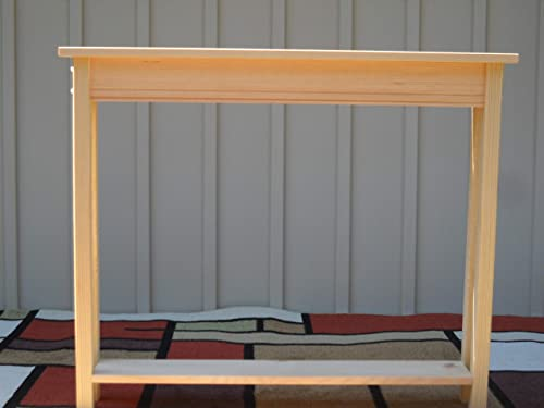 """Sofa Hall 36/"""" Unfinished Pine Console Wall Table With Shelf"""