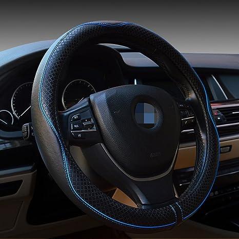 Amazon Com Cdycam Car Genuine Leather Steering Wheel Cover Handle