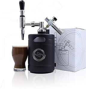 SHAHRIA 64oz Brew Nitro Cold Brew Coffee Maker - Premium Portable Home Brewing Kit System