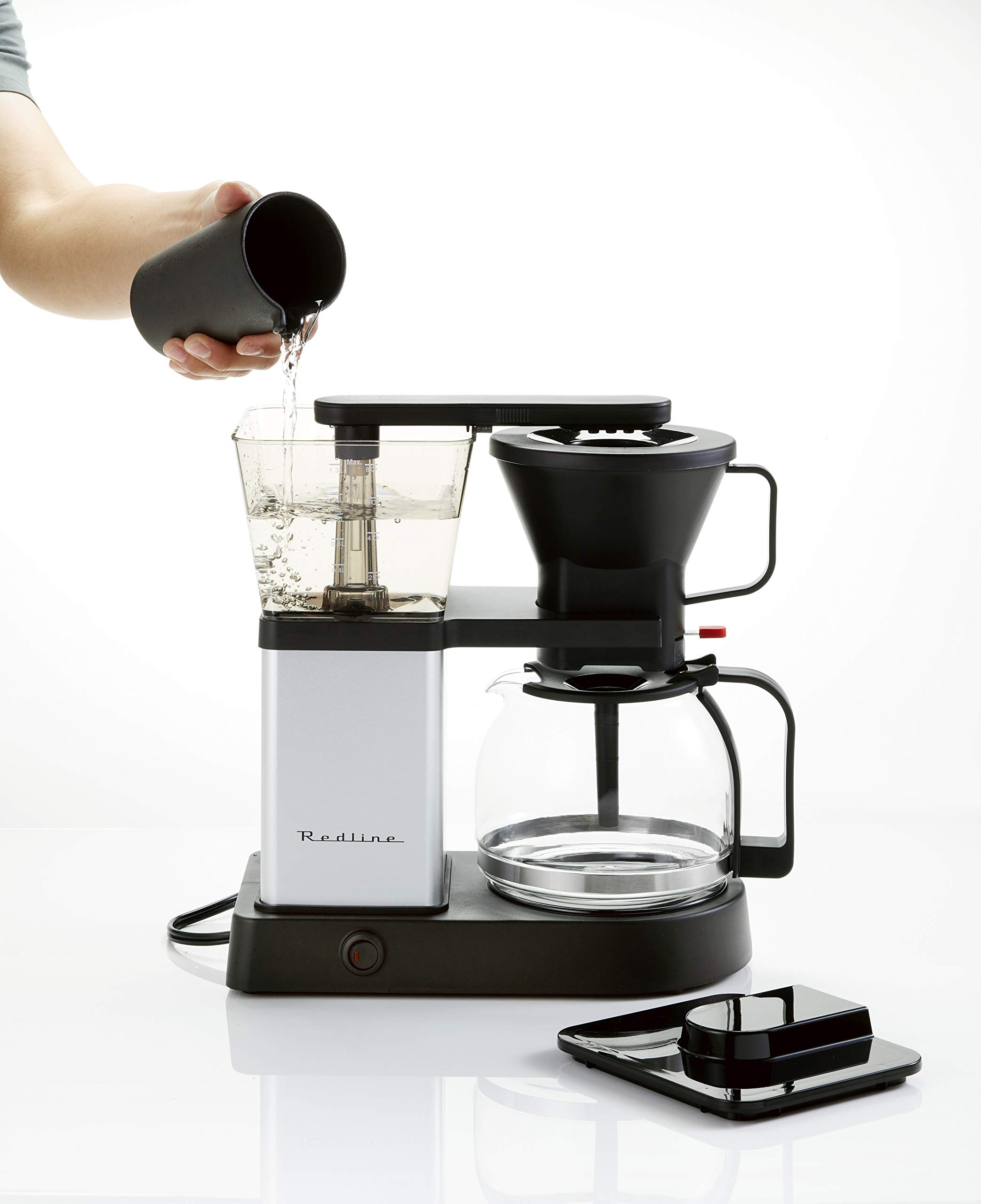 Redline MK1 8 Cup Coffee Brewer with Glass Carafe, Hot Plate and Pre-Infusion Mode (Summer 2018 Refresh) by Redline Coffee (Image #4)