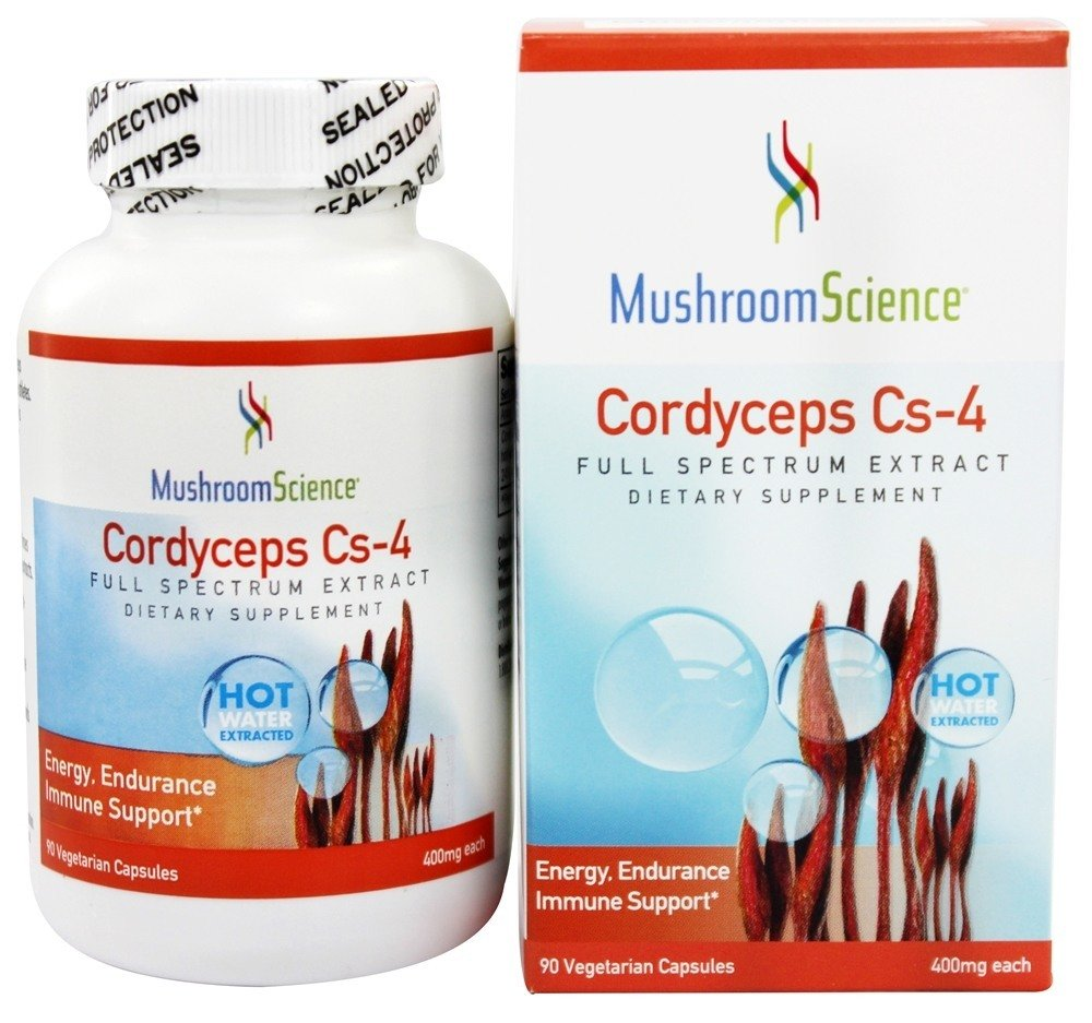 Cordyceps Cs-4 400mg Energy NEW Updated Label by Mushroom Science, 90 Vegetarian Capsules