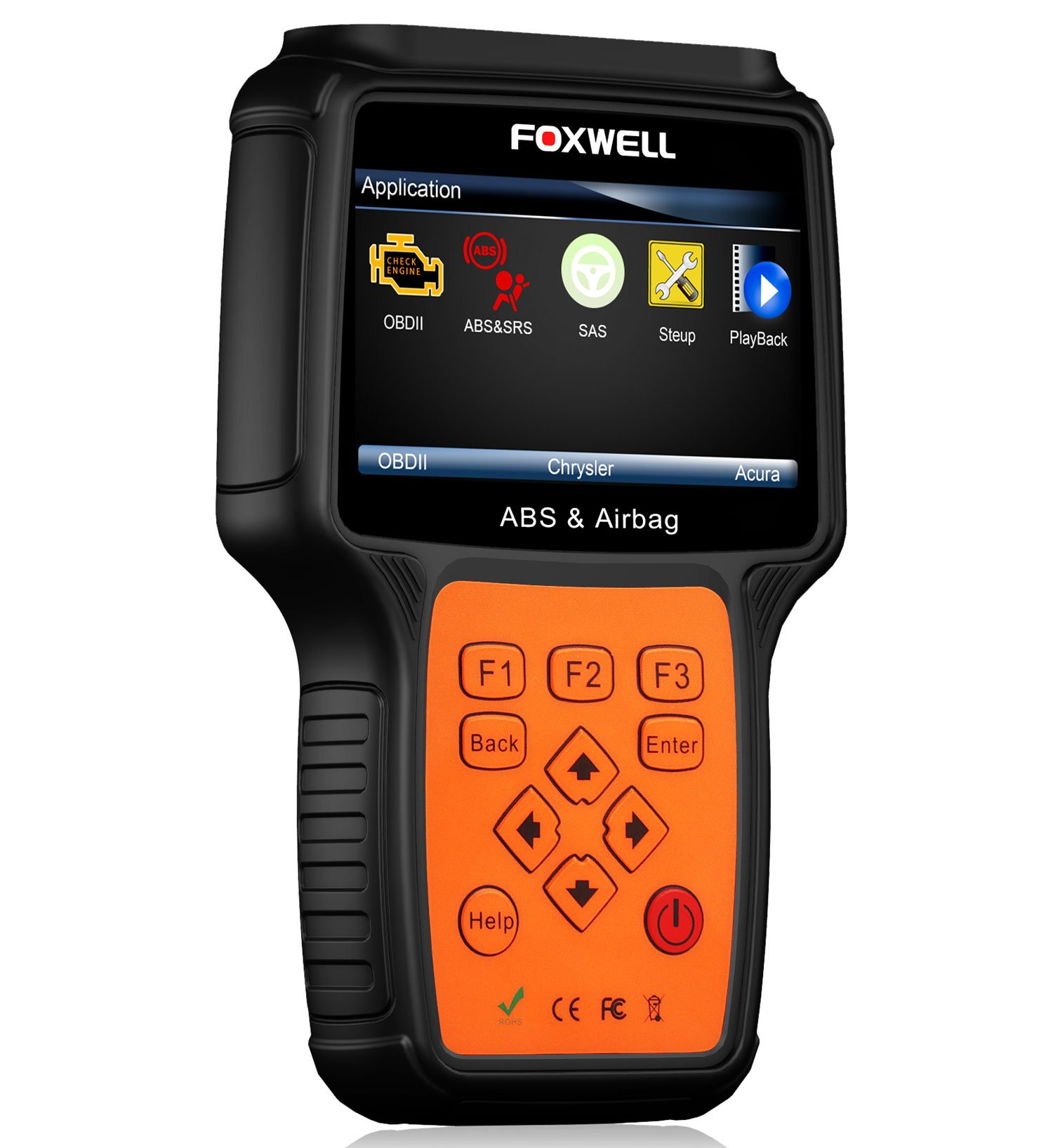 Car Scanners FOXWELL NT630 Plus Reset ABS/Airbag Crash Data with SAS Calibration Diagnostic Scanner Turn Off Engine/ABS/SRS Warning Light Scan Tool (NT630 Plus)