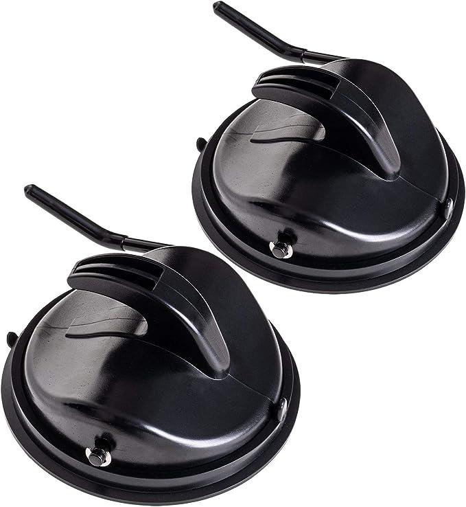 Qeedo Easy Hook ventosas con Gancho, 2X ventosas Camper, Plegables, máx. 15 kg