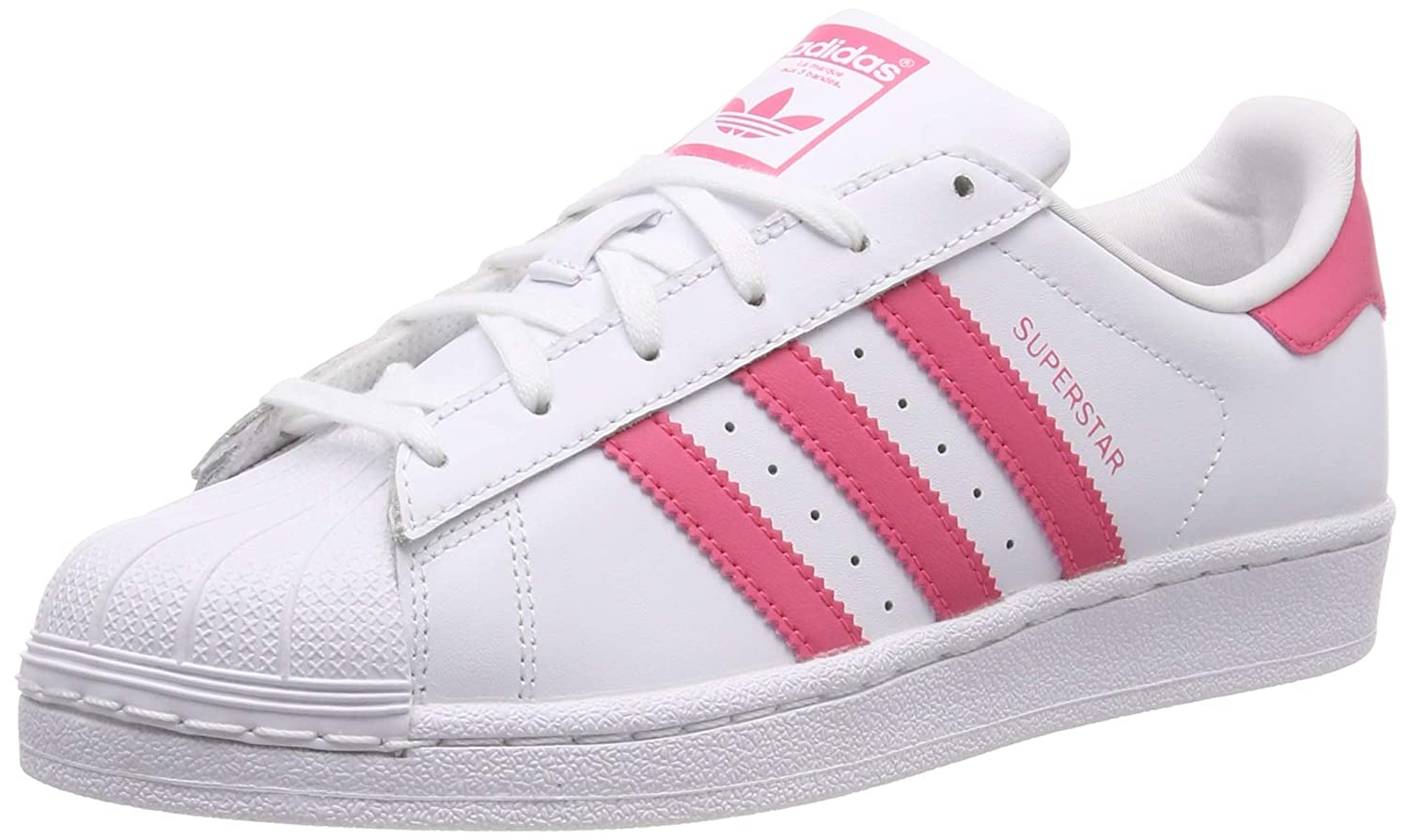 adidas Originals Superstar J WhiteIridescent Leather Youth Trainers Shoes