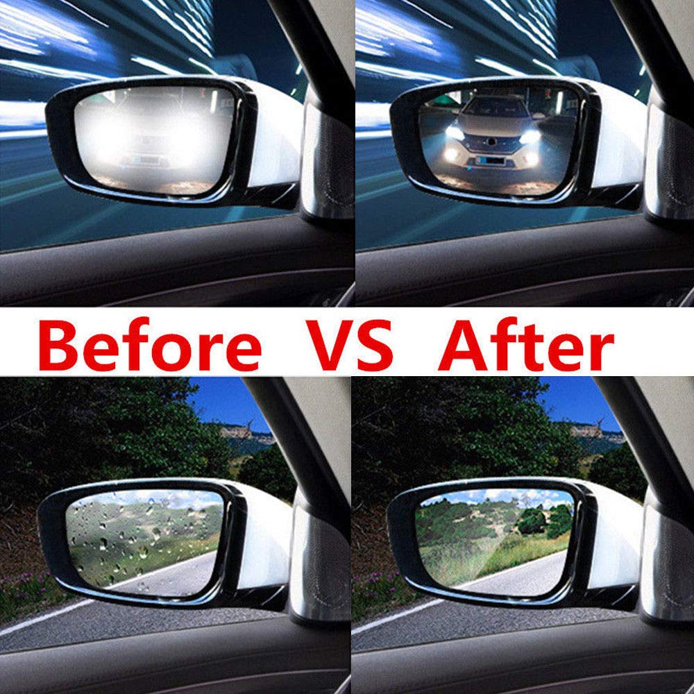 2Pcs Anti-fog Anti-glare Anti-Scratch Coating Car Rearview Mirror Rainproof Film