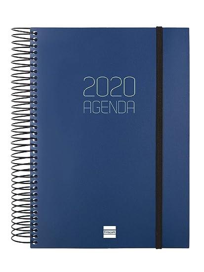 Finocam - Agenda 2020 1 día página Espiral Opaque Azul español ...