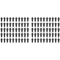 Baalaa 100x Plastic Klinknagel Fiets Kuip Trim Panel Fastener Clips 6mm Voor Zwart