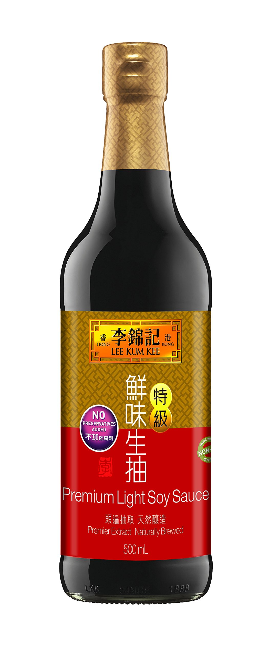 Lee Kum Kee Premium Soy Sauce, 16.9-Ounce Bottle (Pack of 2)
